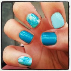 Water themed nails