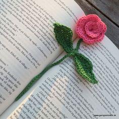 Hæklet rose bogmærke