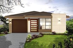 Our Metro 17 is a single storey home with 3 bedrooms, 2 baths and more (view floor plan). Visit our display home or call us on 1300 100 922 today. House Plans 3 Bedroom, Weekend House, Storey Homes, Display Homes, Modern House Plans, Facade, Living Spaces, Modern Design, Floor Plans