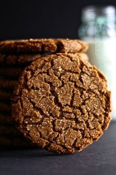 Gingersnap Cookies (Gluten Free Vegan) Chewy, crisp and soft gingersnap with just enough spice and is Vegan and Egg Free.  PetiteAllergyTreats