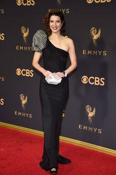 Mary Elizabeth Winstead wearing Giorgio Armani at the 2017 Emmy Awards