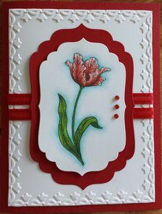 Stampin Up Tulip Embossing Folder