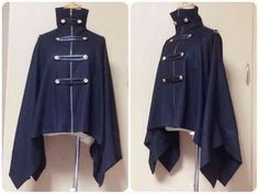 Na + H Military poncho * Military uniform Napoleon / Gothic - I clearly have a navy military coat problem. Style Lolita, Lolita Mode, Gothic Lolita, Anime Outfits, Mode Outfits, Fashion Outfits, Character Outfits, Lolita Dress, Lolita Fashion