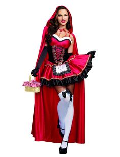 Amazon.com: Dreamgirl Women's Little Red Riding Hood: Clothing