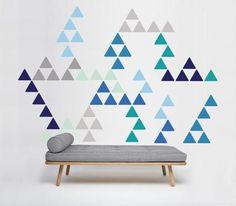 Triangle Pattern Wall Sticker