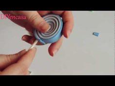 DIY Piruleta goma eva. paleta Foamy. - YouTube
