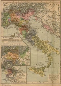 Historical Maps of Europe. Italy about 1494 (774K) Insets: The Milanese under the Visconti, 1339-1402. The Republic of Florence, 1300-1494. From The Historical Atlas by William R. Shepherd, 1923.