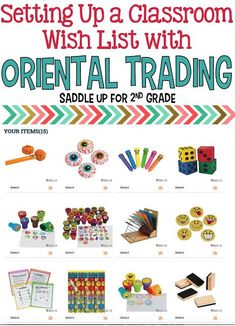 Saddle up for Second Grade: Setting Up a Classroom Wish List with Oriental…