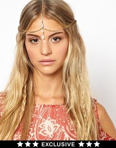 Image 1 ofOrelia Exclusive For ASOS Tiny Teardrop Hair Crown
