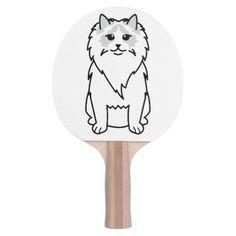 Ragdoll Cat Cartoon Ping-Pong Paddle