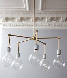Brass Globe Stilnovo Chandalier   19 Mid-Century Modern DIYs That Will Save You Tons Of Money