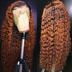 Ombre TwoTone Deep Wave Curly Dark Roots Full Lace Wigs With Baby Hair Pre Plucked front wigs hair wigs lace wigs for women wigs for black women american wigs wigs hair lace front wigs lace human hair wigs Curly Lace Front Wigs, Human Hair Lace Wigs, Curly Wigs, Front Lace, Curly Weaves, Human Lace Front Wigs, Human Wigs, Hair Weaves, African Braids Hairstyles