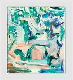 "Willem de Kooning, ""Untitled I, 1980, oil on canvas, 80 x 70 in."