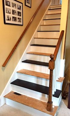 Paint every other step of the stairs so you can still use them while painting.
