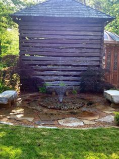 A very unique Disappearing Fountain. Pond, Fountain, Patio, Outdoor Decor, Unique, Home Decor, Water Pond, Decoration Home, Room Decor