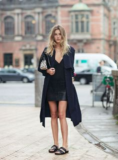 Have a sexy mini-skirt that you are looking to bring down a notch? Birkenstocks are a great way to do just that.