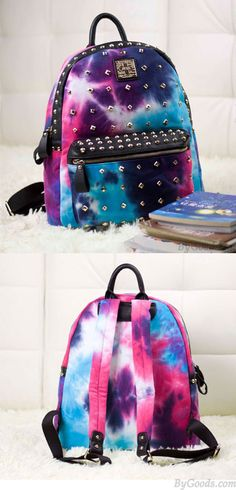 Vintage Rivet Galaxy Backpack Harajuku Style School Bags Backpacks for big sale ! #galaxy #rivet #vintage #college #canvas #Backpack #Bag #school