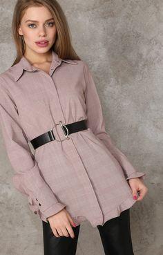 Хлопковая рубашка в клетку с легкими воланами TOP20 Studio 250212, купить за 5950 руб в интернет-магазине TopTop.ru