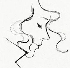 pretty sketch // garance dore // profile portrait // drawing ...