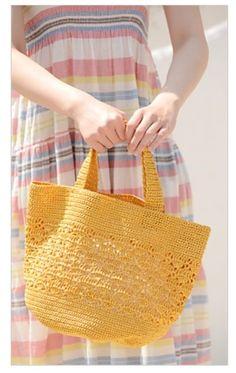 손뜨개 가방 * 라피아마르쉐백 심플하면서도 예쁜 손뜨개 가방 ~~~ ♡ 레이블리 무료도안으로 ~레이블리 링...