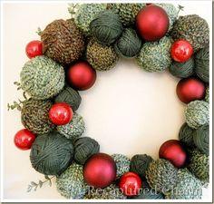 Holiday Yarn Wreath. Hey Kathy Tik, I found a use for all your leftover yarns! Ridge Rascals