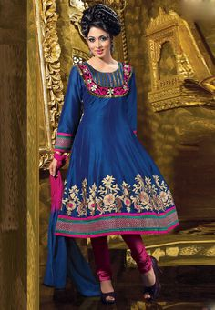 Blue #Anarkali Churidar Kameez