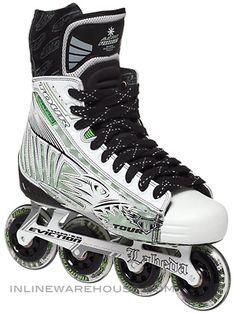 Tour Fish BoneLite Pro WHITE Roller Hockey Skates Sr Hockey Gear, Ice Hockey, Roller Hockey Skates, Roller Sports, Inline Hockey, Hockey World, Inline Skating, Skater Girls, Everyday Objects