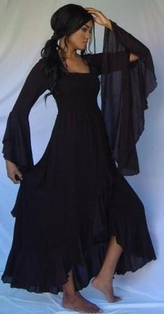 69fe31498cb7 Black Lace Stevie Nicks Style Dress....just add a hat! PERFECT ...