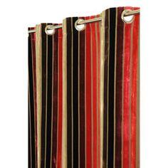 Rideau Pheres 140x250 cm coloris rayé rouge