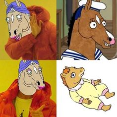 You are watching the movie BoJack Horseman on Putlocker HD. Will Arnett voices BoJack, the failed legendary sitcom star from the favorite family sitcom Horsin? Around, who has been trying to find his way through a Cartoon Memes, Funny Memes, Cartoons, Hilarious, Bojack Horseman Costume, Sarah Lynn, Top Tv Shows, Great Works Of Art, Show Horses
