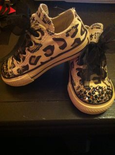 0971d46438eadf Chuck Taylor Converse Leopard Bling Toddler by gorgeousgiggles