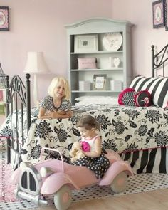 Love these girls bedroom decor ideas from Palm Beach Tots. Discover more kids room decorating  ideas @ http://kidsroomdecorating.net
