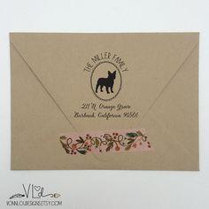 return address stamp  no. 15  dog rubber stamp  von VonnLouDESIGNS