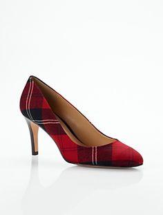 Talbots - Nori Tartan Plaid High-Heel Pumps | 25% off Accessories & Shoes |