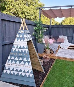 Kids wood teepee for outdoors. Outside kid play ideas 2019 Kids wood teepee for outdoors. Outside kid play ideas The post Kids wood teepee for outdoors. Outside kid play ideas 2019 appeared first on Backyard Diy. Backyard Playground, Backyard For Kids, Kids Outdoor Play, Outdoor Play Spaces, Pool Backyard, Playground Ideas, Outdoor Projects, Garden Projects, Garden Ideas Kids