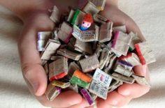 Mini libros reciclados