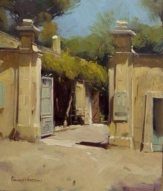 "Colley Whisson     St Remy, France 12""x 9"""