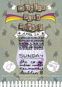 Dublin Flea Market poster | design by Mark Crawford