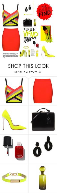"""The Daily Find"" by joannahdawn ❤ liked on Polyvore featuring Milly, Boohoo, L'Occitane, Fashion's Night Out, Christian Louboutin, Mark Cross, Oscar de la Renta, Marc by Marc Jacobs and China Glaze"