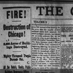chicago fire 1871 - Google Search