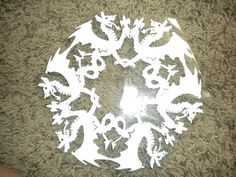 """By cutting out this snowflake I earned a free lamination, courtesy of """"The Snowflake Lady"""" from the St. It was really challenging, but I love it! Snowflake Cutouts, Snowflake Template, Snowflake Pattern, Snowflakes, Christmas Diy, Christmas Bulbs, City Museum, Oragami, Paper Cutting"""