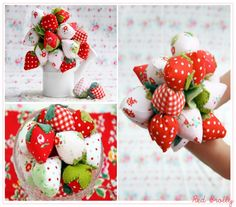 Create:: A gorgeous fabric Strawberry bouquet