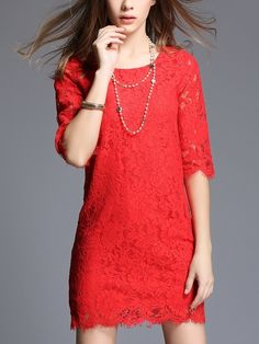 (Ready Stock 3XL *1) Enamour Shift Lace Dress - $46,90 SGD