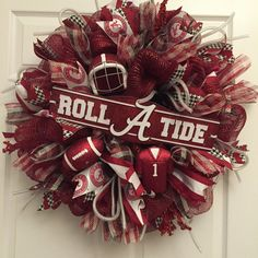 26 Alabama Wreath Roll Tide Crimson Tide  Bama by DerekasDesigns