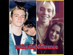 Ross and courtney (ross isnt smiling) Ross and Laura (ross is smiling)