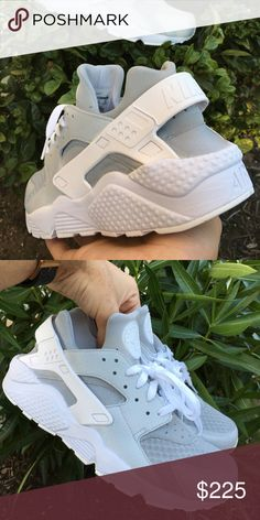 new styles 89835 f3ced Cool Grey Huaraches Base All White Huaraches, Colors were Airbrushed and  then sealed giving them