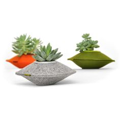 Recycled, Felted Mini-Plant Holders for Succulents | EcoSalon | Conscious Culture and Fashion