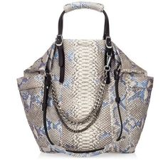 Slate Iridescent Python Tote Bag | Blare | Cruise 2013 | JIMMY CHOO Shoulder bags #jimmychoobags