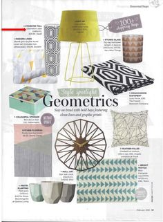 Dwell's geometric vase features in Good Homes February issue