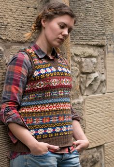 Waistcoat, vest, tank top, slipover, pullover, jerkin — Ysolda